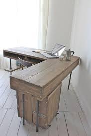 industrial desk l stuart reclaimed scaffolding board industrial corner l shaped desk