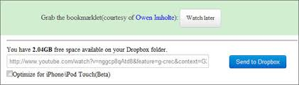 dropbox youtube download save youtube videos directly to your dropbox account