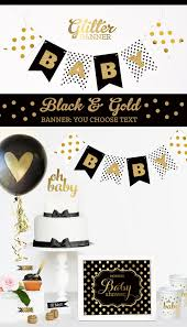 white and gold baby shower black and gold baby shower decorations black and white baby