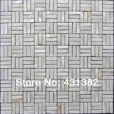 2017 white mother of pearl subway shell mosaic tiles mother of