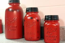 red kitchen canisters in vintage style the new way home decor