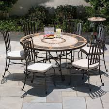 Outdoor Round Patio Table Round Table Outdoor Dining Sets Gccourt House