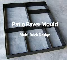 Concrete Patio Stone Molds by Paver Maker Patio Mould Make Your Own Pathway Backyard
