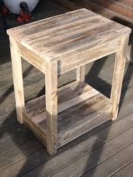 tables made out of pallets end tables made from pallets pallet side table nightstand end tables