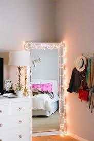 Bedroom Mirror Lights Bedroom Pretty Bedroom Mirror String Lights 22 Delightful Diy