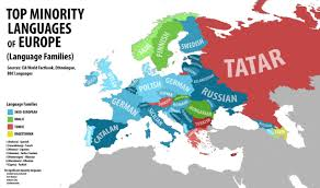 Belgium Language Map Top Native Minority Languages Of Europe By Maps On The Web