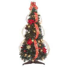 pull up fully decorated prelit poinsettia tree kimball