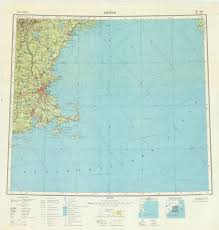 Map Of Boston Area Map Of The Boston Area Made By The Soviet Military In The 1950 U0027s