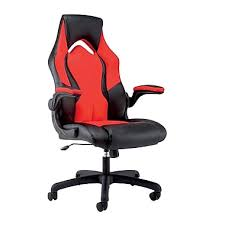 Cloud 9 Gaming Chair Ofm Essentials By Ofm Leather Racing Style Gaming Chair Black Red