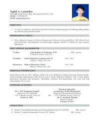 Resume Of Call Center Agent Sample Resume Philippines Sample Resume Call Center Agent Fresh