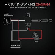 amazon com mictuning hd 12 gauge 600w led light bar wiring
