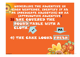 Free Adjective Worksheets Adjectives Predicate And Attributive Adjectives Worksheet Free