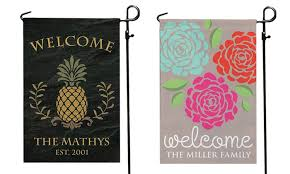 personalized garden flag personalized planet groupon