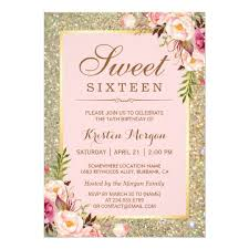 sweet 16 invitations zazzle