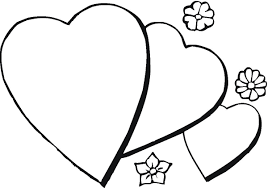 coloring pages flowers and hearts coloring page