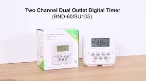 Comforday Digital Timer 7 Day by Digital Timer Outlet Hydrofarm 7 Day Dual Outlet Digital Timer