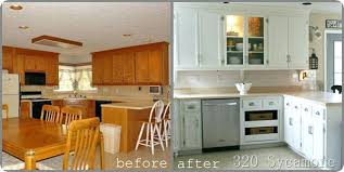 painted cabinets before and after painted white kitchen cabinets before and after advertisingspace info