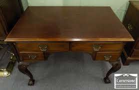 Small Mahogany Desk Cabinet Made Solid Mahogany Chippendale Small Partner S Desk