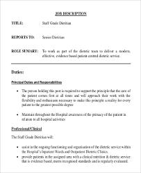 Sample Dietitian Resume by Nutritionist Job Description Teller Job Review Dylan Kidds Get A