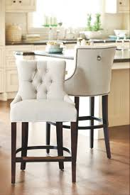 kitchen island stools l shaped white wood cabinet chrome single