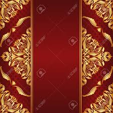 maroon background with golden ornaments royalty free cliparts