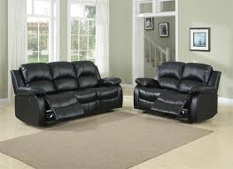 Black Leather Reclining Loveseat Cranley Black Living Room Collection Style 9700blk
