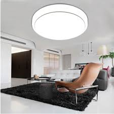 flush ceiling lights living room 18w round led ceiling panel light 1600 lumens 7000k bedroom living