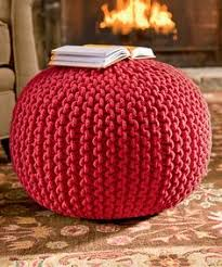 Knit Pouf Ottoman Pattern Diy How To Make A Knitted Pouf Ottoman Best Of