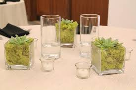Cube Vase Centerpieces by Lisa U0026 Rob Married Jacksonville Wedding U2013 Ruby Reds Floral And