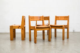 Pine Dining Chair Set Of 4 Ate Van Apeldoorn Style Heavy Pine Dining Chairs