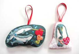 Felt Penguin Christmas Ornament Patterns - polar family felt ornament patterns u2013 narwhals u0026 penguins