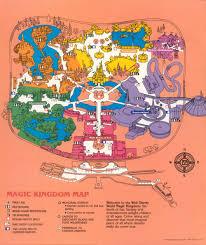 Usa Hour Map by Maps The Magic Kingdom 1989 Progress City U S A
