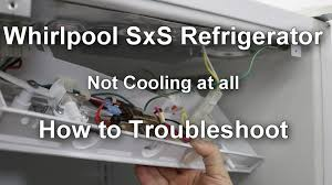 refrigerator fan not working whirlpool side by side refrigerator not at all how to