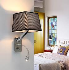 Bedroom Reading Wall Lights Creative Fabric Wall Sconces Band Switch Modern Led Reading Wall
