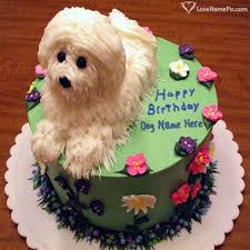 cute white dog birthday cake name generator