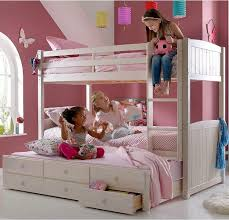 Bunk Bed With Pull Out Bed Bunk Bed Pull Out Trundle Bed With Storage Drawers In
