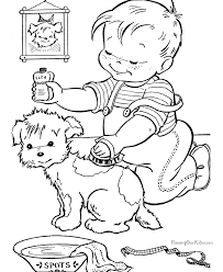 fun kid coloring pictures puppy