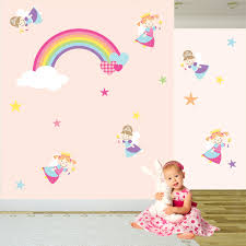 fairy wall decal stickers nursery princess art rainbow fairy wall decal stickers nursery princess art rainbow baby girl bedroom toddler decor kids gifts magical summer finds