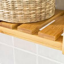 etagere pour vernis sobuy frg28 b n etagère murale salle de bain toilettes en bambou