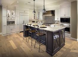 Canyon Kitchen Cabinets by Painted Cabinets U0026 Dark Stained Island Traditional Kitchen