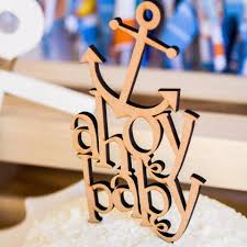nautical cake toppers baby shower cake topper ahoy nautical style z create design