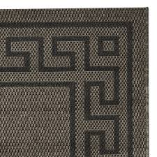 faux key indoor outdoor rug brown black