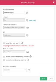 online database and web application builder javascript