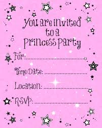 Birthday Invitation Card Maker Party Invitations Beauty Princess Party Invitations Princess