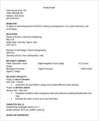 Computer Science Internship Resume Sample by Designer Resume Sample 6 Examples In Word Pdf