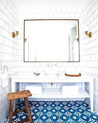 blue and white bathroom ideas blue and white bathroom tiles a white bathroom accented by blue and