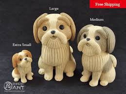 Ceramic Desk Accessories Ceramic Shih Tzu Set Of 3 Ceramic Dolls Desk Accessories