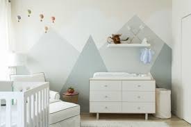 12 nursery trends for 2017 project nursery modern mountain mural in serene nursery with hot air balloons