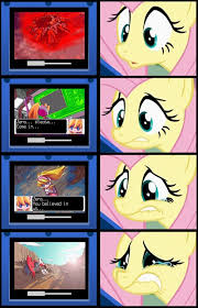 Mega Man Memes - 87386 fluttershy gamershy megaman meme sad safe video game