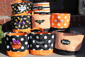 personalized halloween buckets personalized embroidered halloween bucket personalized